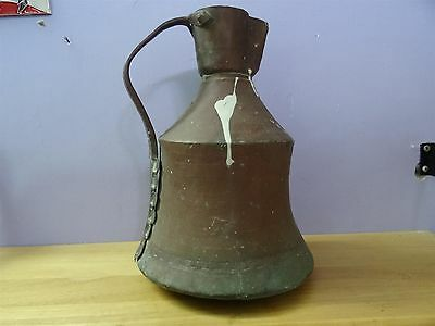 Antique Ottoman Copper Jug Pitcher Turkish Islamic Primitive Work Hand Made 7