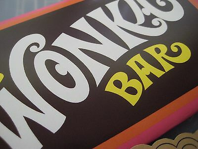 Willy Wonka & Chocolate Factory Replica Wonka Bar and Golden Ticket /Gene Wilder 5