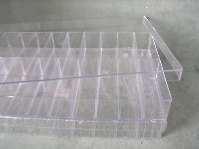 2 Stück Sortimentskästen Sammelboxen Sortierbox 20-er transp. Aufbewahrung
