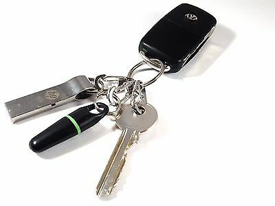 5 Chrome Steel Compact Quick Release Clips Utility Tactical Key Ring System