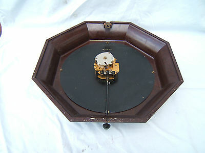"Bakelite GPO wall clock large octagonal 17"" (43cm) across electric working  Bak1"
