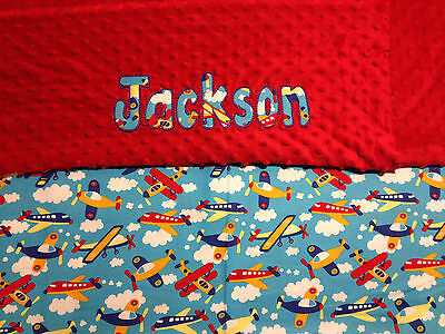 """ADD YOUR CHILDS NAME! Personalized Baby Blanket 30/"""" x 36/"""" BOYS"""