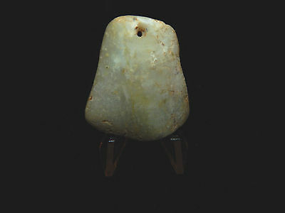 Pre-Columbian Pendant, Translucent Jade,  Authentic 5