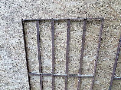 2 Antique Victorian Iron Gate Window Garden Fence Architectural Salvage Door 000 3