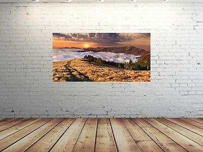 EG4100502059 SONNE MEER ORANGE LANDSCHAF Wandbilder XL 50 x 100 cm HD GlasBild