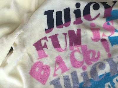 NWT Juicy Couture New Genuine Girls Age 10 Yellow Velour Hoody With Juicy Logos 2