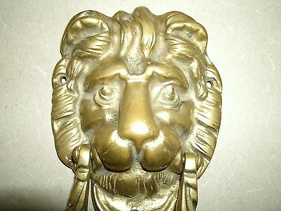 Vintage Antique LION HEAD Solid Heavy Duty Cast Brass Door Decorative Hardware