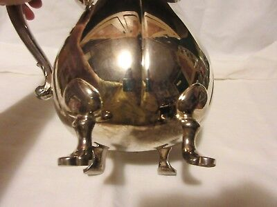 "Lunt Silverplate Footed Pitcher, Stamped B-140, 9"" Tall 5"
