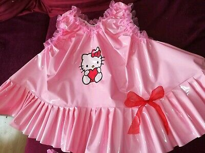 Adult Baby Set Pvc Slips+ Oberteil Gummihose Lack Windelhose Pants Hello Kitty 8