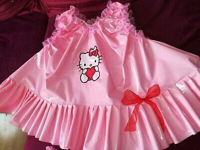 Adult Baby Set Pvc Slips+ Oberteil Gummihose Lack Windelhose Pants Hello Kitty 8