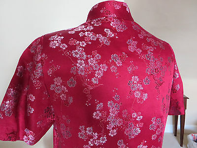 HALF PRICE!!  SILK BROCADE Traditional Oriental Chinese Cheong Sum Dress - L 8