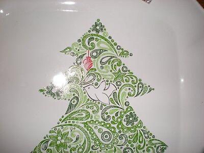 Mudpie Mud Pie Platter Treats Serving Christmas Holiday Magic Tree Bird 5