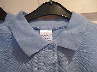 """Girls pale blue sportswear tops """" AGE 12/13 ."""" ( SET OF 2 ) school wear. 3"""