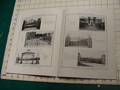 vintage Original Catalog: ENTRPRISE WROUGHT IRON fences-gates-arches, 1931 or so 7