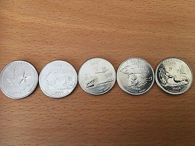 PICK ANY OF THE 50 US STATE QUARTERS P or D mint - UNCIRCULATED 12