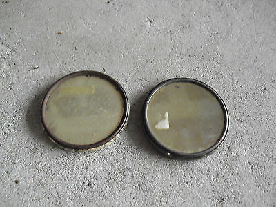 Lot of 2 Vintage Mirror Backs Small Girl and Playhouse in Tree LOOK 2