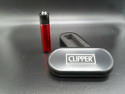 Clipper Metal Lighters With Metal Gift Tin Case Refillable Multi Colors Free Tin 10