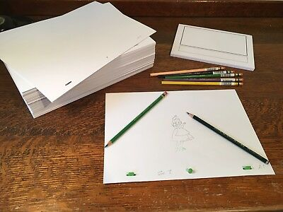 Animation Paper Bundle - 1000 punched A4 Sheets, Storyboard Pad, Pegbar, Pencils 4