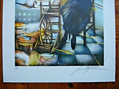 Lithographie Raymond Poulet- 75/54-La Fileuse- 87/200 4