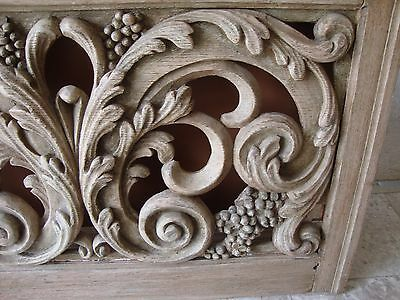 French Carved Outdoor Window Beautiful Detail 3