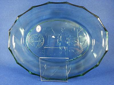 Heisey by Mosser Green Newark, OH Bicentennial Platter