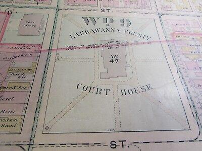 City Of Scranton - 1898 Downtown Map - Ward 8,17,9 - I.c.s, Scranton H.s. (#1) 3