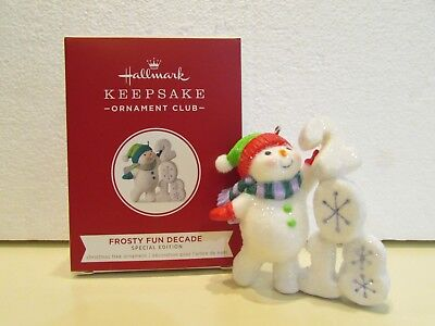 Hallmark 2018 ornament REPAINT Frosty Fun Decade *Special Edition*