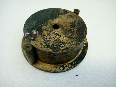 Vintage Brass Clock Barrel Drum & Spring