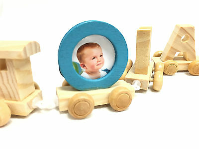 Wooden Wood Train Letters Alphabet Personalised Name Train Set Christening Gifts 2