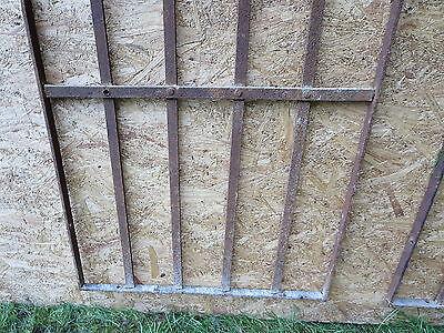 2 Antique Victorian Iron Gate Window Garden Fence Architectural Salvage Door 000 4
