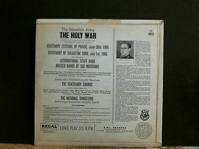 THE SALVATION ARMY  The Holy War   LP  Jesus Christian etc 2