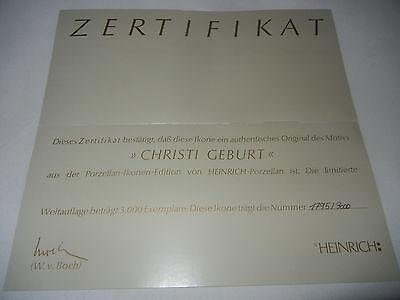 Heinrich Miniatura Icono Escena 3: Nacimiento De Cristo con+Certificado Nº 1795