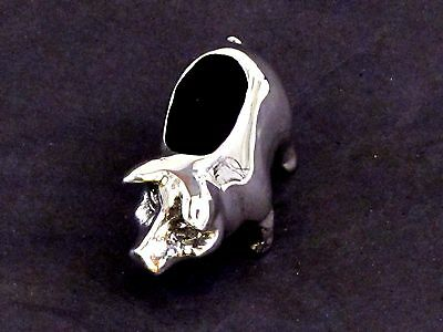 Pig Piglet English Pewter Pin Cushion by A E Williams Birmingham UK Boxed