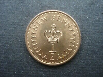 Very Fine Old Decimal Half Pence Coin Great Britain 1979 2