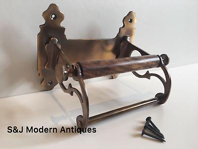 Vintage Toilet Roll Holder Victorian Antique Copper Bronze Edwardian Unusual Old 8