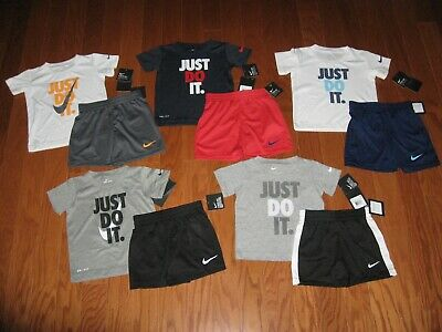 Nike 2-Pc T-shirt /& Shorts Outfit  Set Boys 2T//3T//4T NWT