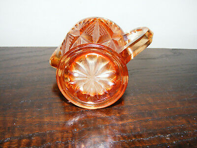 """Carnival   Marigold    Glass   Cream  Or   Milk  Jug    Height   3.1/4""""   Inches 6"""