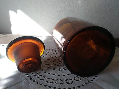 Apothekerflasche;ferr. sulfuric.chris;1 ltr.;braunglas;geschl. Stöpsel;Loft;Deco 3