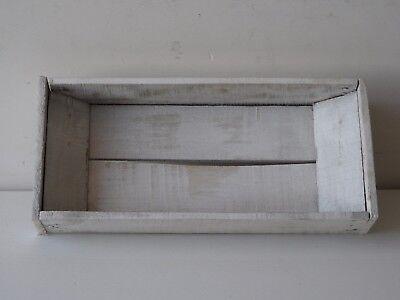 SVUOTATASCHE, VASSOIETTI IN legno bianco decapato,