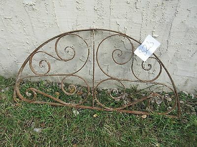 Antique Victorian Iron Gate Window Garden Fence Architectural Salvage #828 3