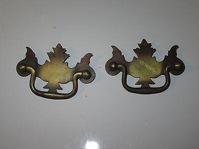 2 Vintage Dresser Cabinet Hardware Pull Handles - Bronze Finish 2