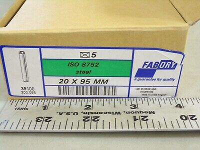(Pk Of 5) Spring-Type Straight Pin Slotted Iso 8752, 420-560, Hv30, 20X95Mm(Dc) 6