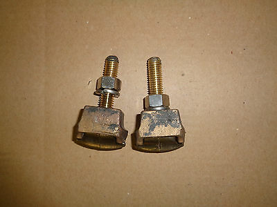 LOT OF 2 Hubbell Power GC209 Vice-Type Cable Ground Lugs