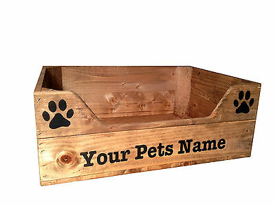 Personalised Wooden Pet Bed Crate (Small) For Cats And Or Dogs 2