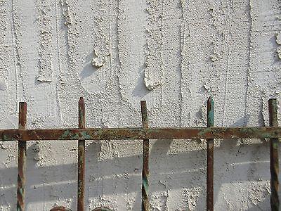 Antique Victorian Iron Gate Window Garden Fence Architectural Salvage #924 3