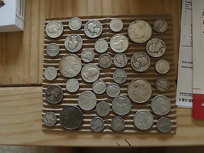 1/2 OZ TOTAL 90% SILVER  This is Survival Silver  FREE SHIPPING Not Junk