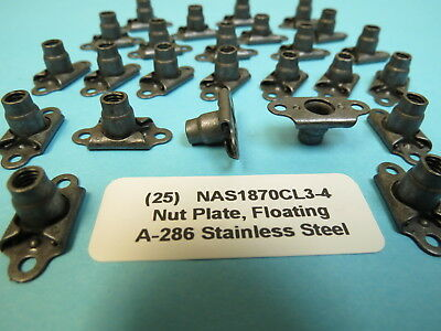 """MS21061-L3 FLOATING NUTPLATE  10-32/"""" Pack of 25"""