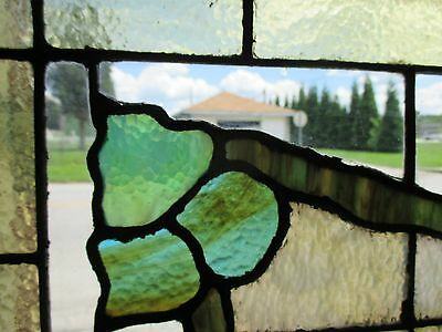 ~ ANTIQUE AMERICAN STAINED GLASS WINDOW GRAPEVINE 34x25 ARCHITECTURAL SALVAGE ~ 4