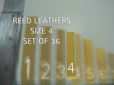 Accordion REED LEATHER LEATHERS VALVES SET OF 36 Size 5 Ventile für Akkordeons