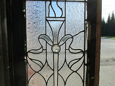 ~ Antique American Stained Glass Window Torch 16 X 51 Architectural Salvage ~ 4
